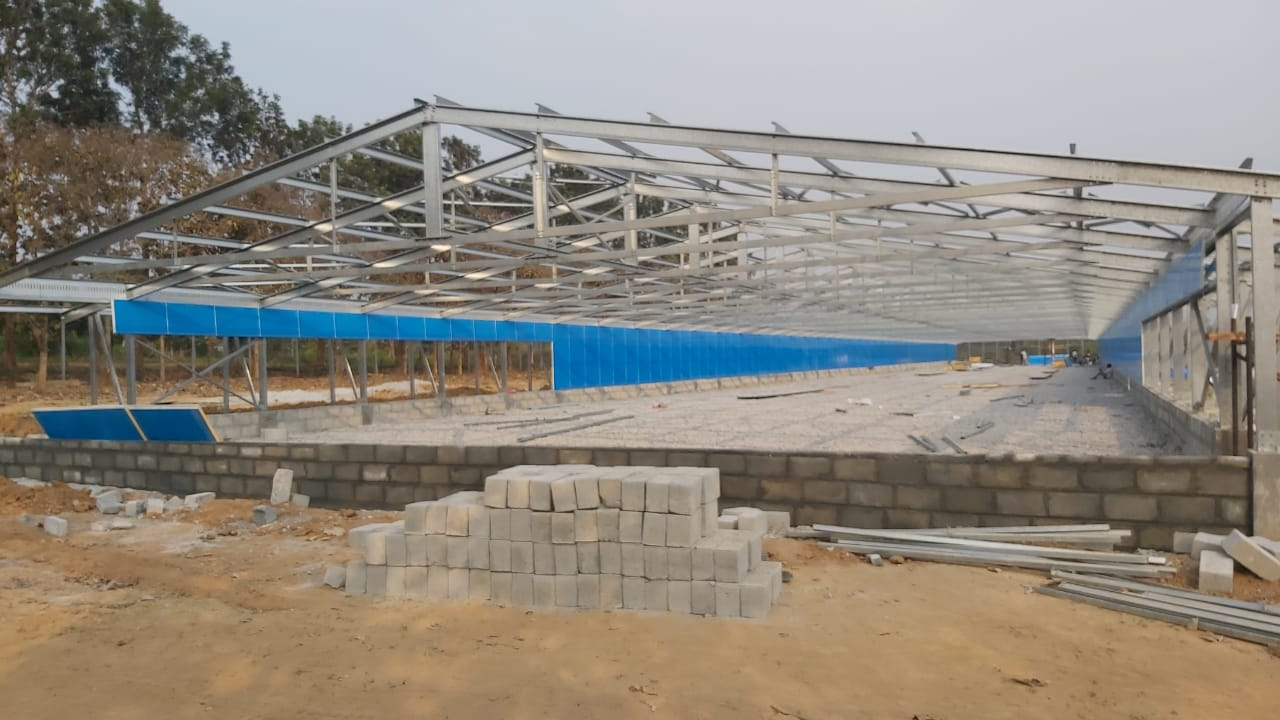 A broiler house expansion for a poultry farm in India